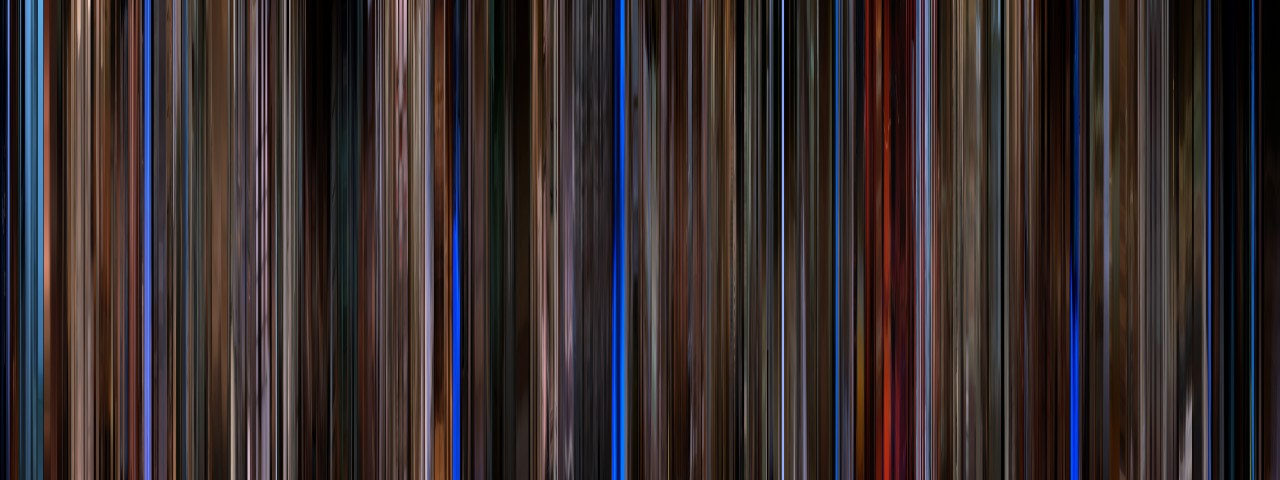 "The compressed version of Kieślowski's ""Blue,"" the first part of the Three Colors Trilogy (Click image to enlarge)"