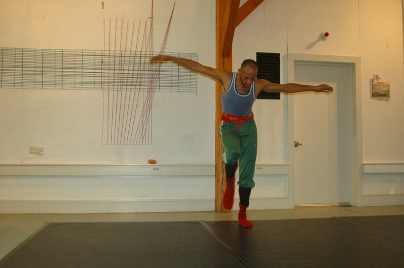 Dancer Will Rawls practicing in Nef Studio at The MacDowell Colony (Photo by Michelle Aldredge)