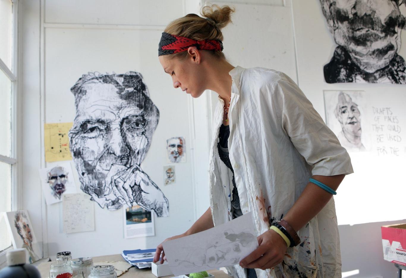 Artist and MacArthur Fellow Anna Schuleit (Photo by John Solem)
