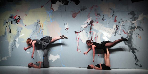 Schuleit's set design collaboration with Ivy Baldwin Dance (Photo courtesy Anna Schuleit)