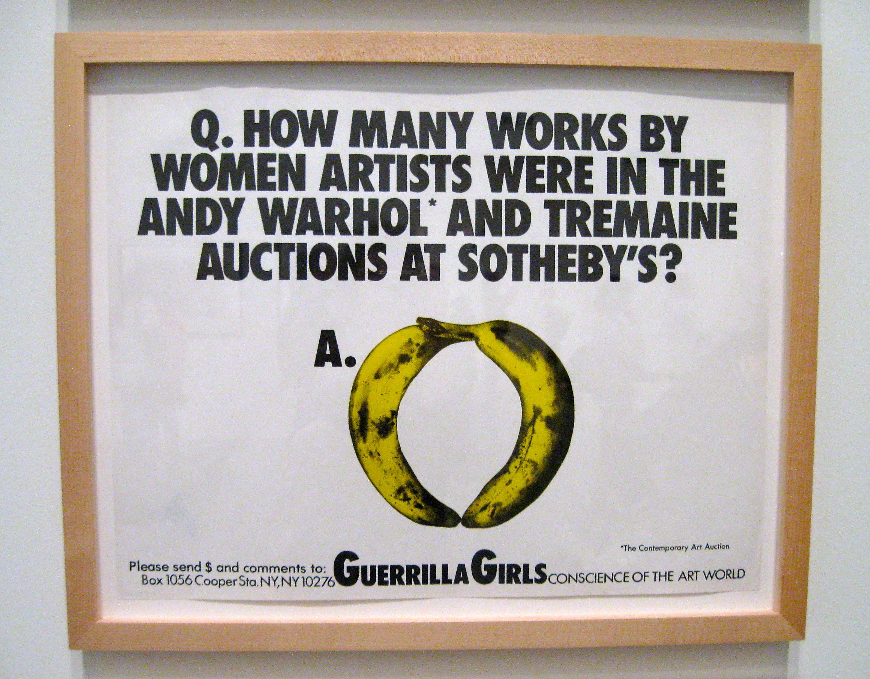 Guerrilla Girls Museum Of Modern Art