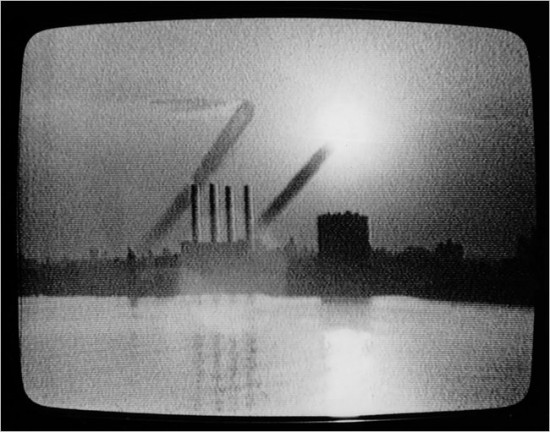 "Mary Lucier/San Francisco Museum of Modern Art  Mary Lucier's video installation of a sunrise over north Brooklyn in 1975, one of the works to be in MoMA PS1's ""September 11."" Most of the art in the show was made before the attacks."