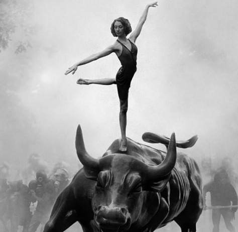 Adbusters Ballerina and the Bull