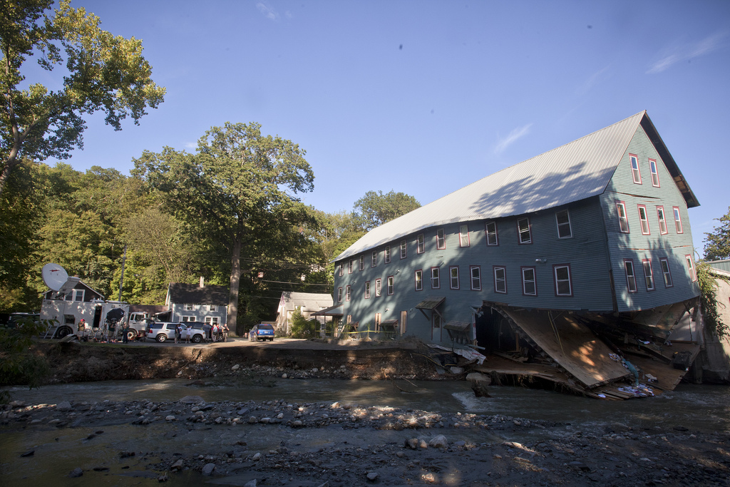 Hurricane Irene damage in Brattleboro, Vermont