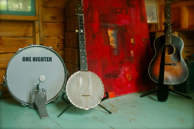 Drum, banjo, and guitar-Marlboro, Vermont-Red Heart the Ticker