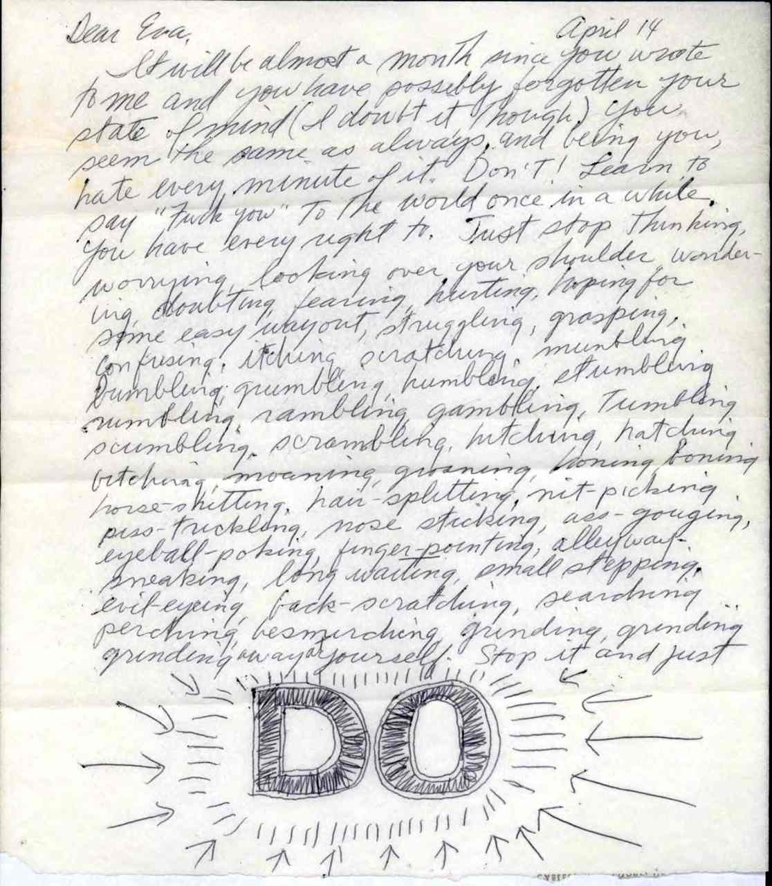 Sol LeWitt's Advice to Eva Hesse: Don't Worry About Cool, Make