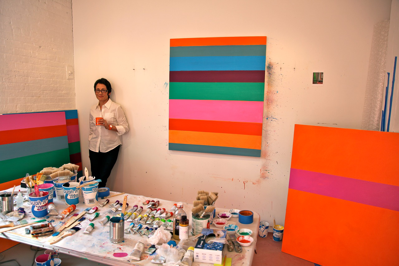 Kim Uchiyama in her Tribeca studio (Photo by Michelle Aldredge)