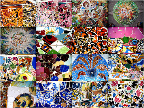 Filmmaker hiroshi teshigahara gaudi made me realize the for Garden mosaics designs