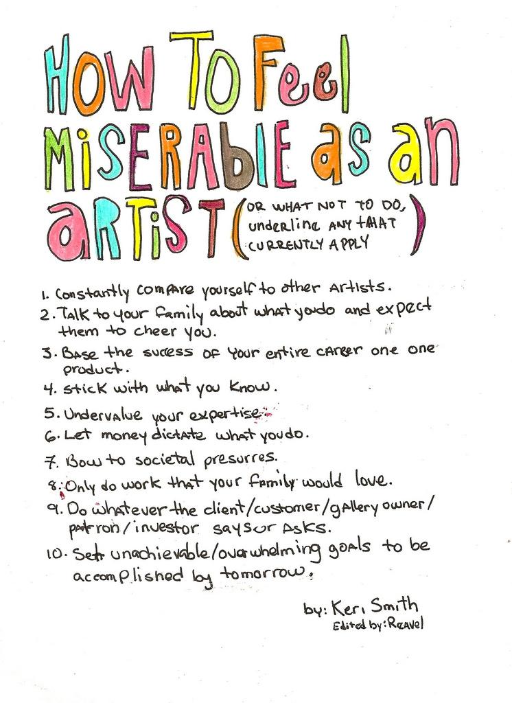 How to Feel Miserable as an Artist-Keri Smith