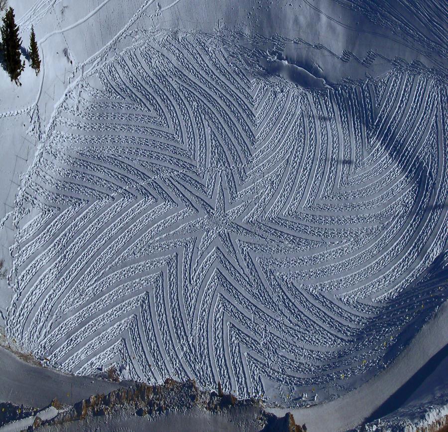 simon beck snow artist