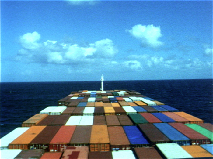 "A still from Peter Hutton's film ""At Sea,"" currently on view at the Peabody Essex Museum in Salem, Massachusetts (Photo courtesy the Peabody Essex Museum)"