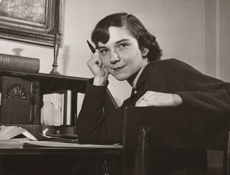 The late poet Adrienne Rich during her student days at Radcliffe (Photo courtesy Harvard University and the Radcliffe Archive)