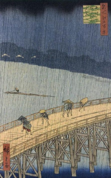 Sudden Shower over Shin-Ohashi Bridge and Atake by Hiroshige