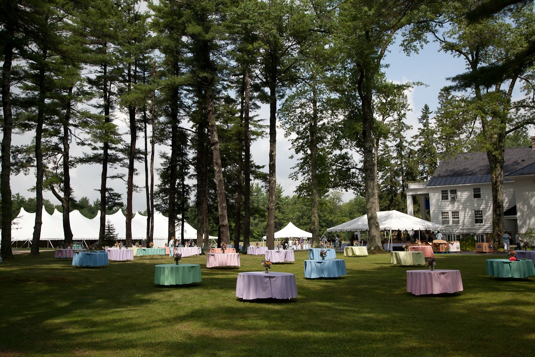 Picnic tables on the lawn of The MacDowell Colony on Medal Day 2012 (Photo © Joanna Eldredge Morrissey courtesy the photographer)