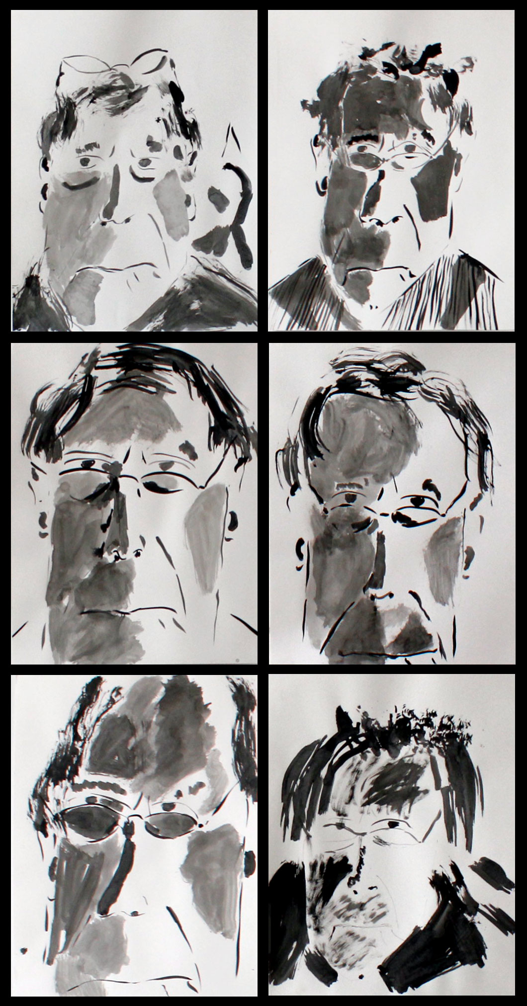 Self-portraits by actor and theatre director André Gregory (Photo courtesy Atlas Theatre Company)