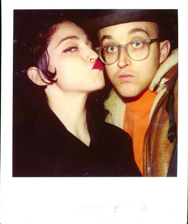 Madonna and Keith Haring (Photo courtesy Juxtapoz magazine)