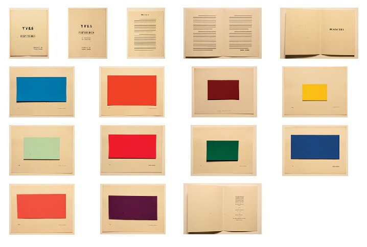 The pages of Yves Peintures by Yves Klein, 1954