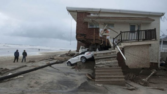 A Rockaway home destroyed in Hurricane Sandy