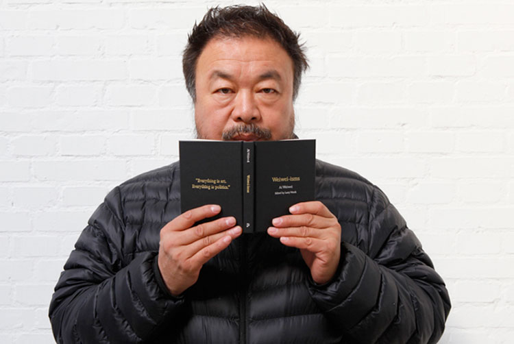 aiweiwei with book