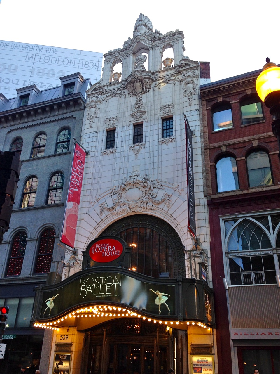 The Boston Opera House is one of the finest examples of the vaudeville circuit palace at the pinnacle of its development. Designed in a combination of French and Italian styles by Thomas White Lamb, one of the foremost theatre architects of his day (Photo by Michelle Aldredge)