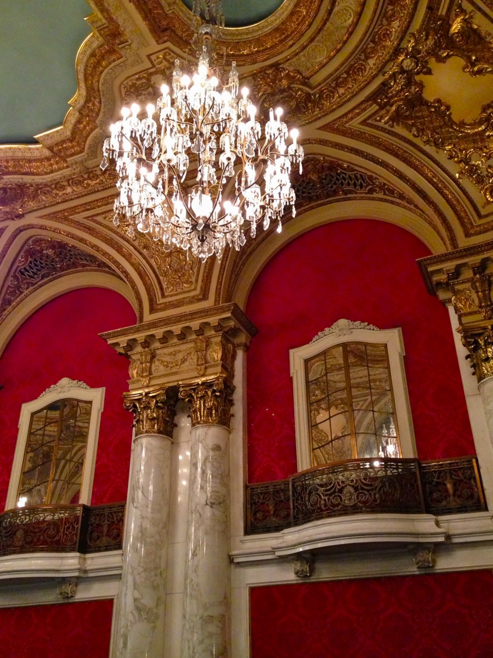The interior of the Boston Opera House on Washington Street (Photo by Michelle Aldredge)