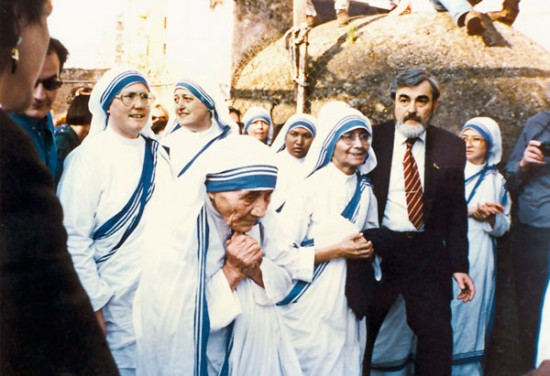 Mary Johnson and Mother Teresa