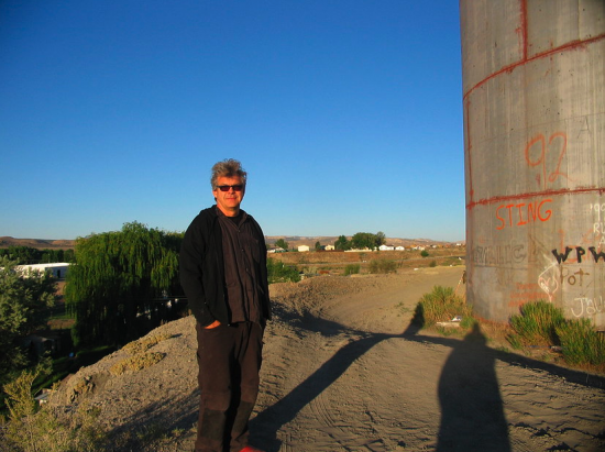 Bruce Odland at The Tank in Rangely, Colorado (Photo courtesy Friends of the Tank)