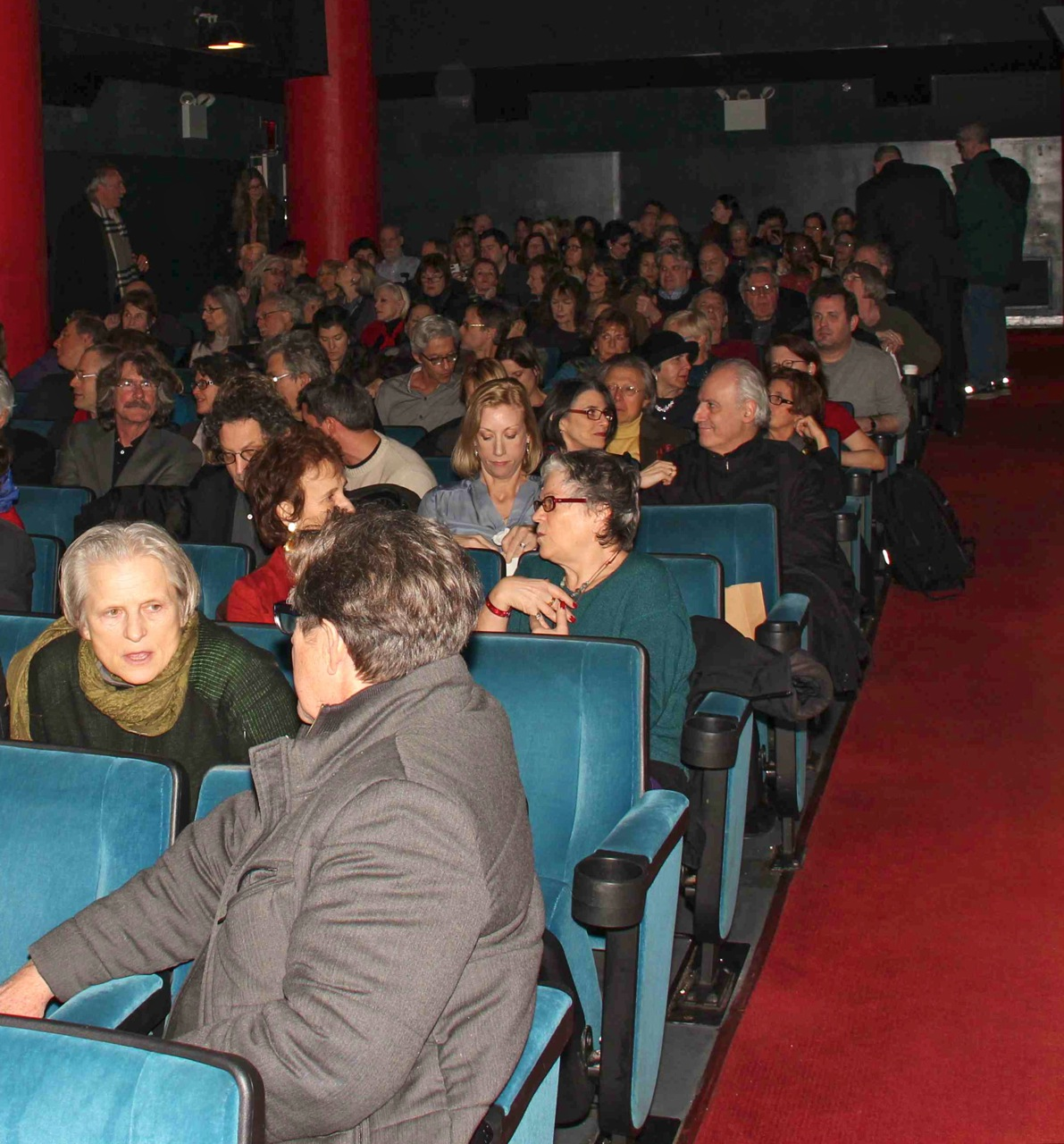 Artists, friends, supporters, and those who participated in the film were out in force during the February 25th screening of Before and After Dinner at Film Forum (Photo by ???)