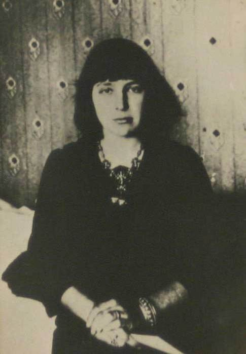 Russian writer Marina Tsvetaeva in 1914