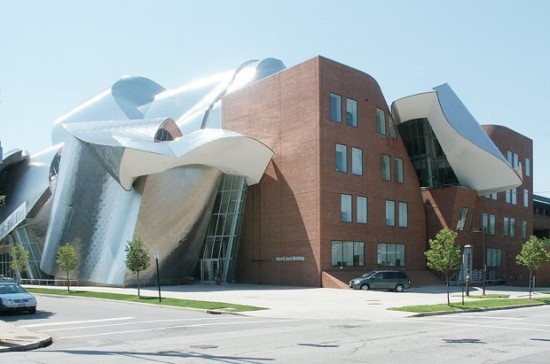The winding hallways of Frank Gehry's ??? were blamed for a bundled SWAT raid (Photo courtesy Fast Company)