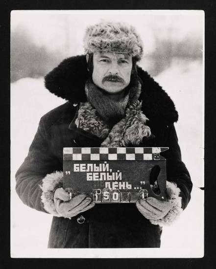 Andre Tarkovsky on the set of Mirror.