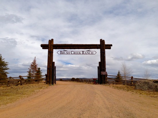 The main entrance to Brush Creek Ranch in Wyoming (Photo by Michelle Aldredge)