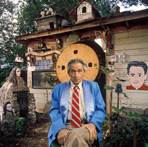 Howard Finster in Paradise Garden (Photo via fieldaesthetic.com)