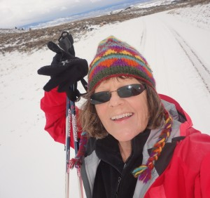 Kate Kingston cross-country skiing in Wyoming
