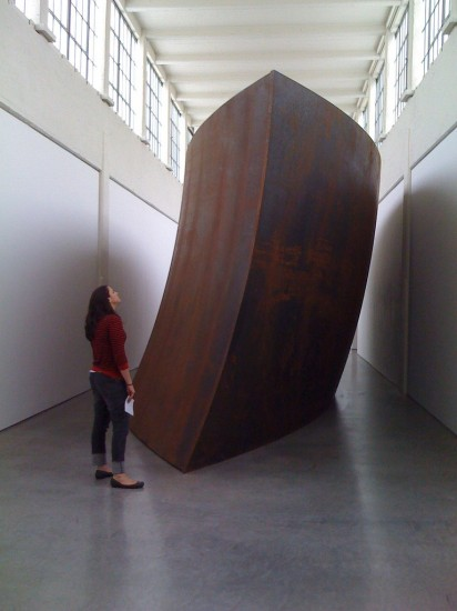 One of the many works by Richard Serra on view at Dia:Beacon (Photo courtesy Art Escape Plan)