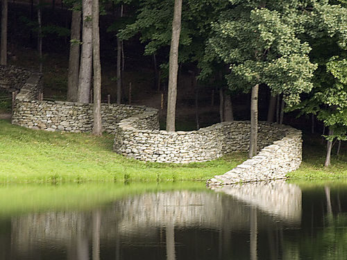 This wall installation by Andy Goldsworthy can be seen at the Storm King Art Center in New York State (Photo by David Sauvé)