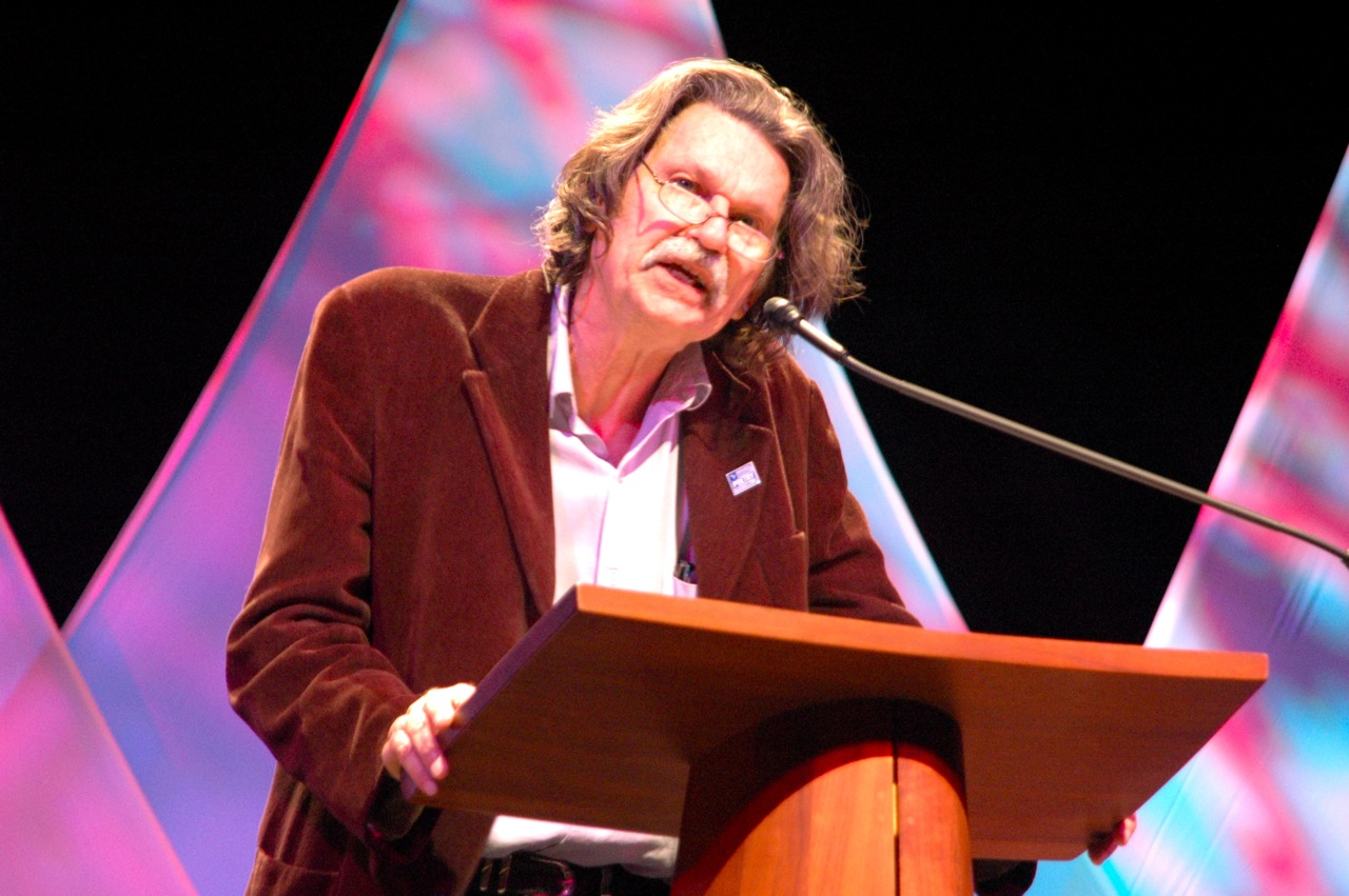 Poet Gregory Orr reading at the 2012 Geraldine R. Dodge Poetry Festival (Photo by Michelle Aldredge)