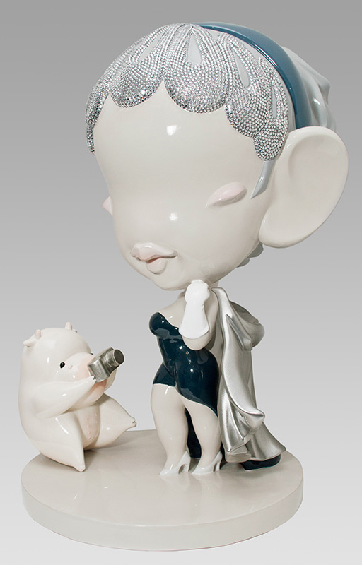 Han Yajuan, Super Starlet, edition of 6, (2011) painted tin, bronze, crystals, 17.75 x 14 x 11.75 inches