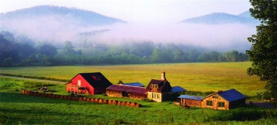 "The John C. Campbell Folk School in Brasstown, North Carolina. One of Simpson's poems, included here, explores the Cherokee origins of the name ""Brasstown."" (Photo courtesy the John C. Campbell Folk School)"