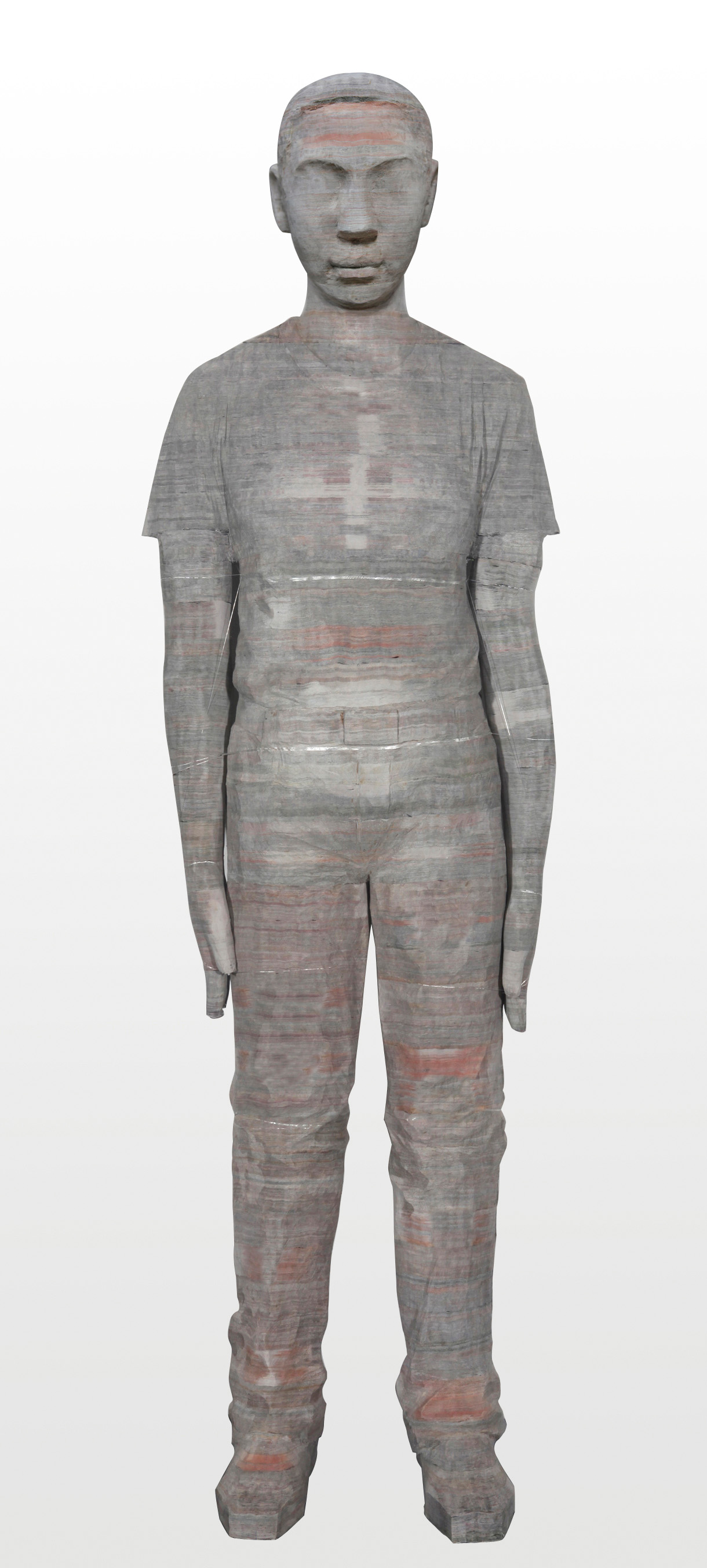 Li Hongbo, Cultured Man, (2012), newspaper, dimensions variable