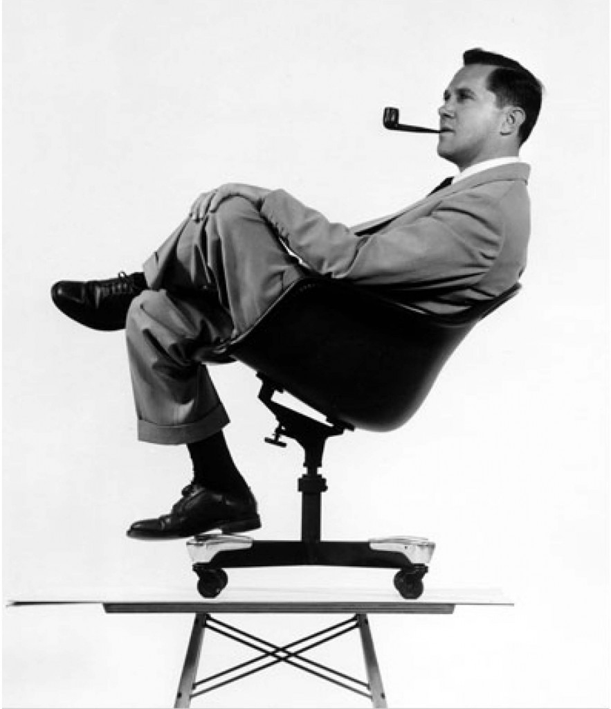 """Here is one of the few effective keys to the design problem — the ability of the designer to recognize as many of the constraints as possible — his willingness and enthusiasm for working within these constraints. Constraints of price, of size, of strength, of balance, of surface, of time and so forth."" --Charles Eames (Photo by Charles Eames courtesy eamesdesigns.com)"