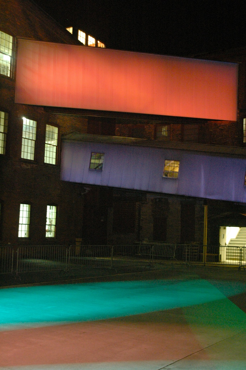Mass MoCA after the Friday night concert (Photo by Michelle Aldredge)
