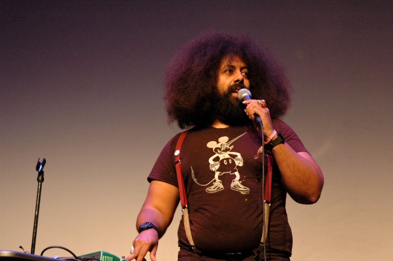 Reggie Watts was one of the highlights of the Solid Sound Comedy Show. (Photo by Michelle Aldredge)