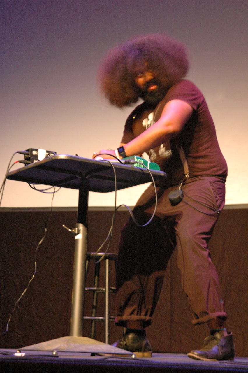 Reggie Watts performing ??? (Photo by Michelle Aldredge)