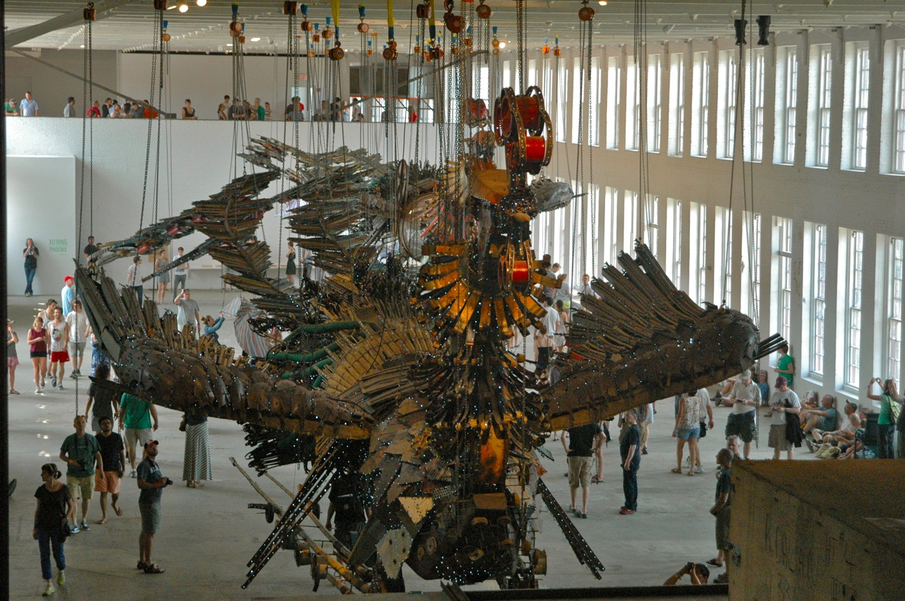 An aerial view of Xu Bing's Phoenix (Photo by Michelle Aldredge)