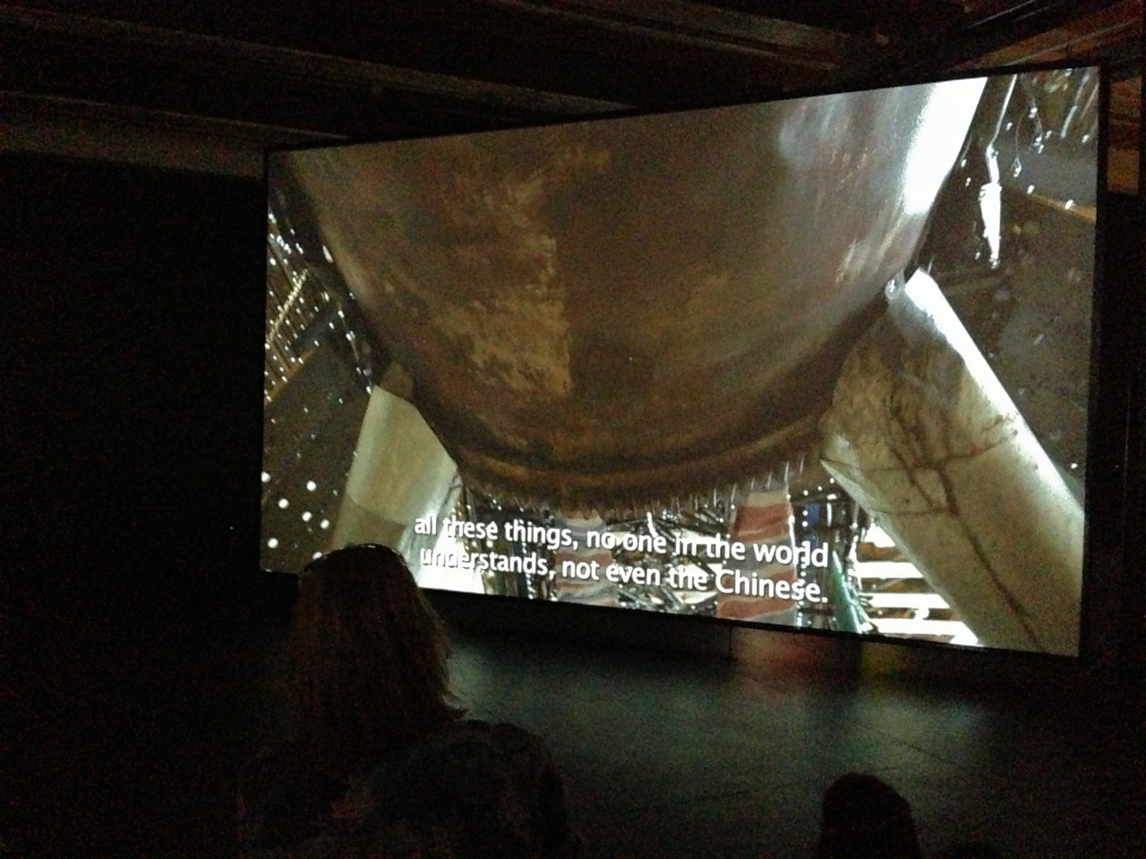 A film in the galleries detailed the construction of the installation (Photo by Michelle Aldredge)