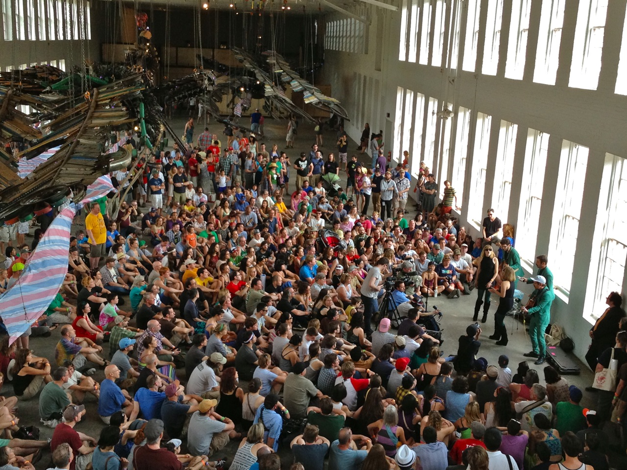 One of the highlights of Solid Sound is surprise pop-up concerts which occur throughout the museum during the festival. (Photo by Michelle Aldredge)