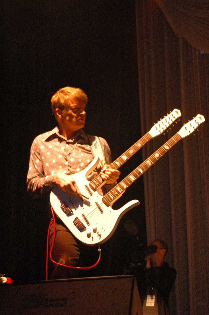 Nels Cline of Wilco. Each band member had solo projects  represented at the festival. (Photo by Michelle Aldredge)