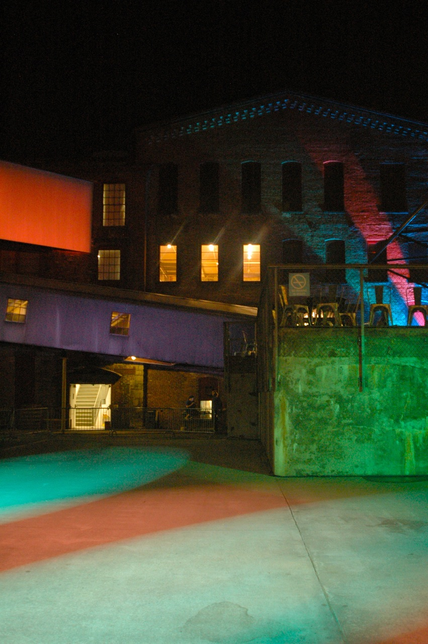Late night at Mass MoCA (Photo by Michelle Aldredge)