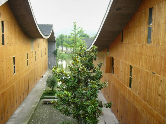 Wang Shu, Xiangshan Campus, China Academy of Art, Phase II, 2004-2007, Hangzhou, China (Photo courtesy of Amateur Architecture Studio and the Pritzker Architecture Prize)